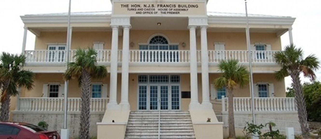Hon N. J. S. Francis Building, home to the House of Assembly of Turks and Caicos Islands (image by CaribNews)