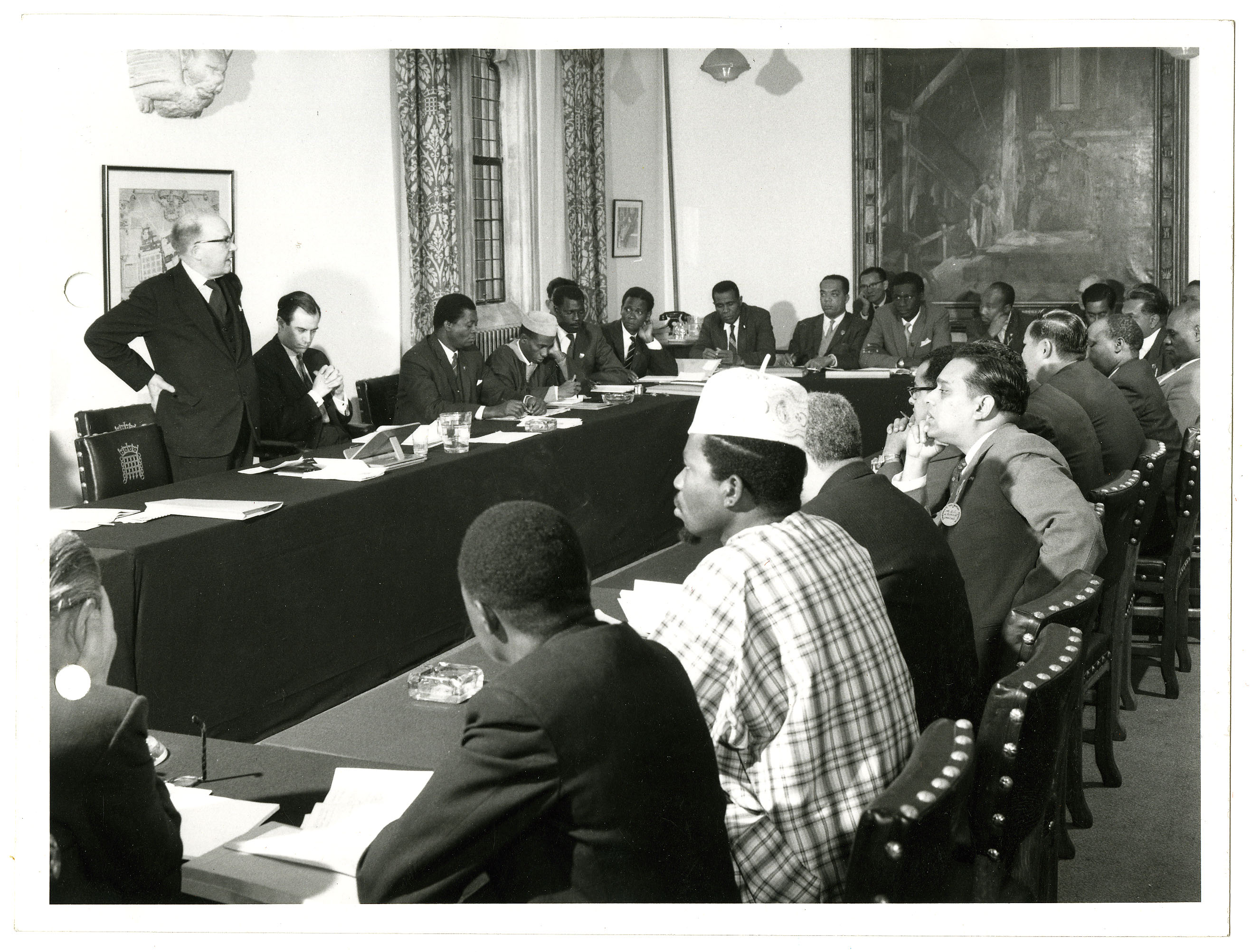 CPA UK's first course on Parliamentary Procedure and Practice, held in the CPA Room, Houses of Parliament, June 1952. © Unknown, Parliamentary Archives