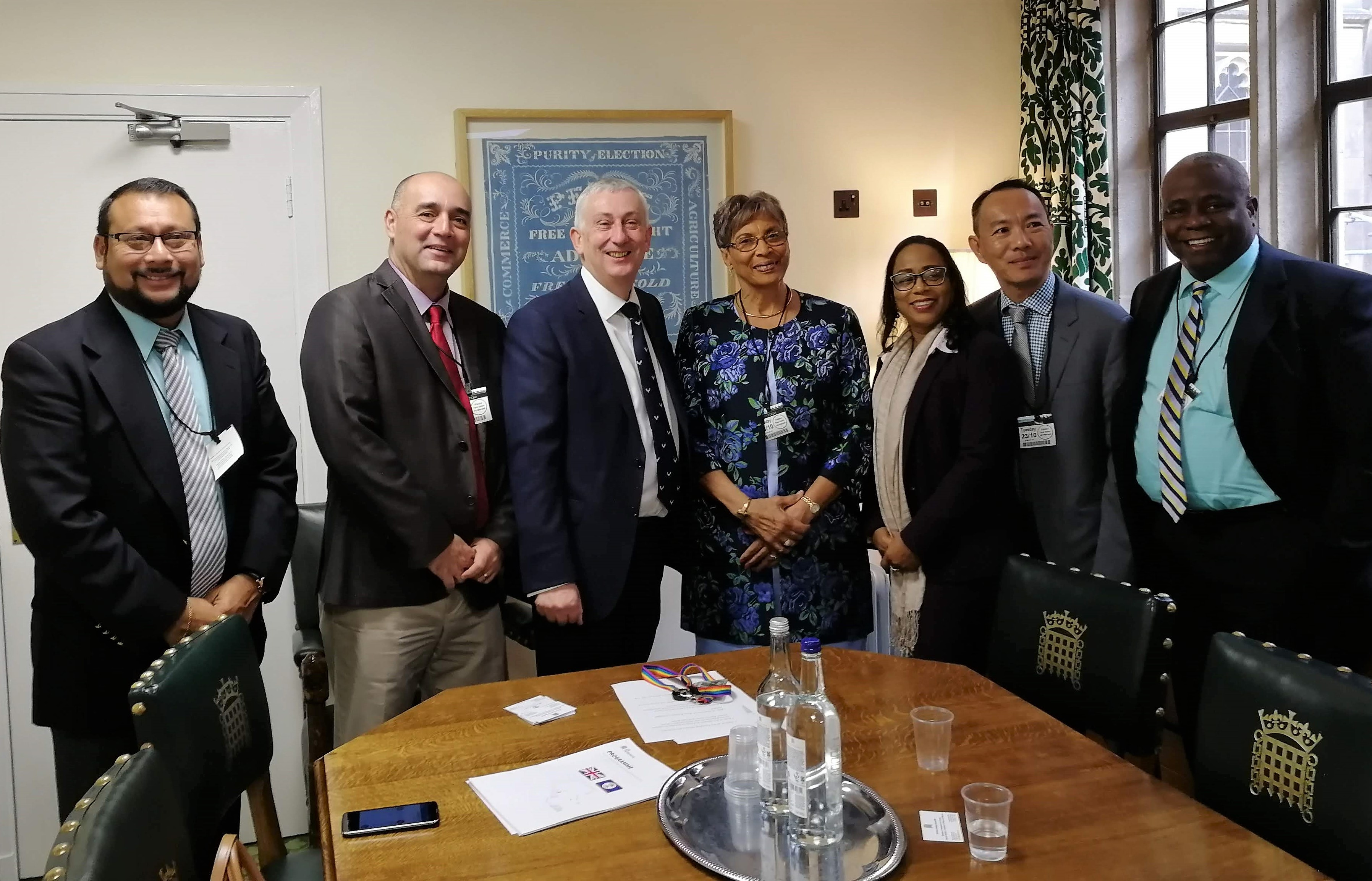 The delegation meets with Deputy Speaker Rt Hon.Sir Lindsay Hoyle MP