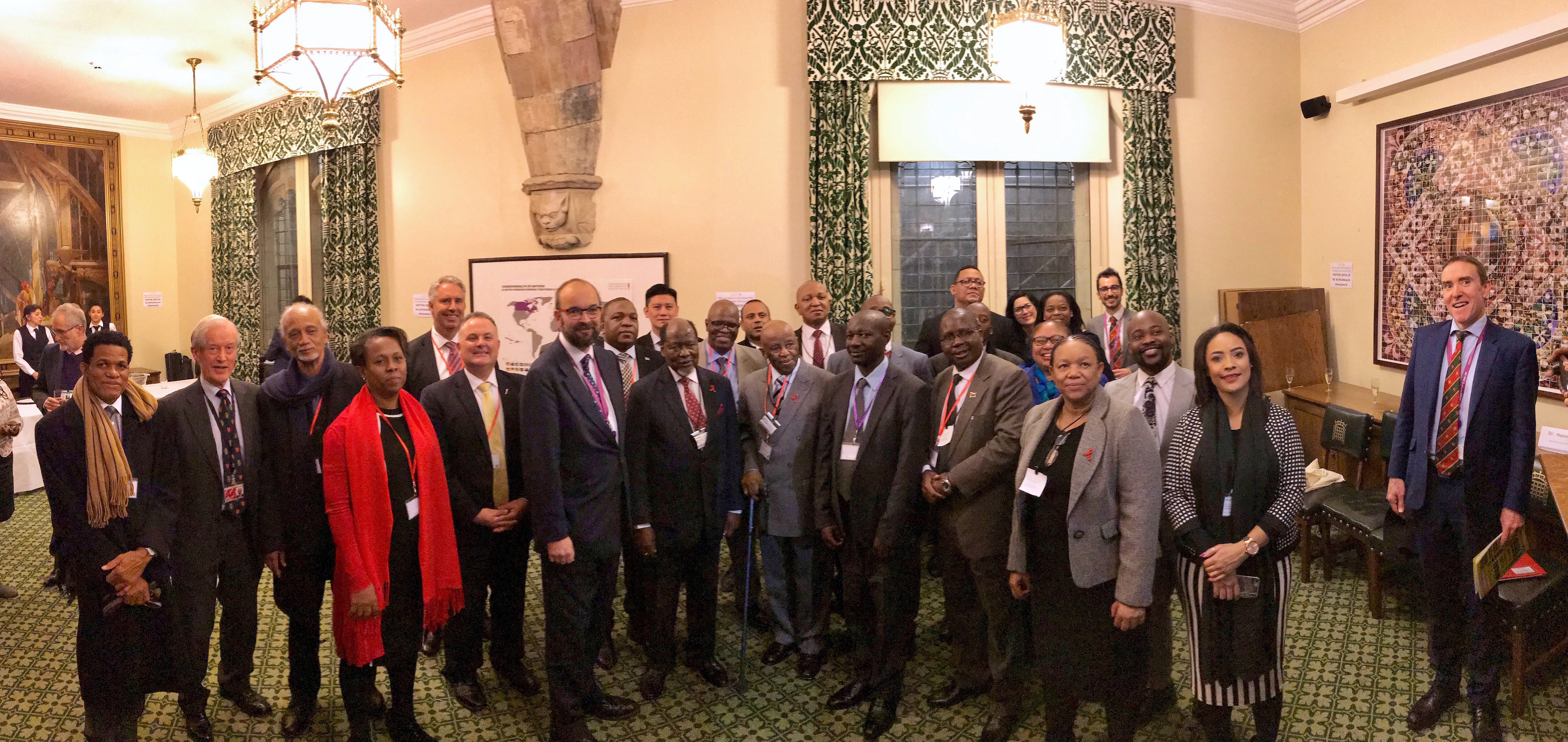 Group photo with HE Festus Mogae, Former President of Botswana, and HE Joaquim Chissano, Former President of  Mozambique
