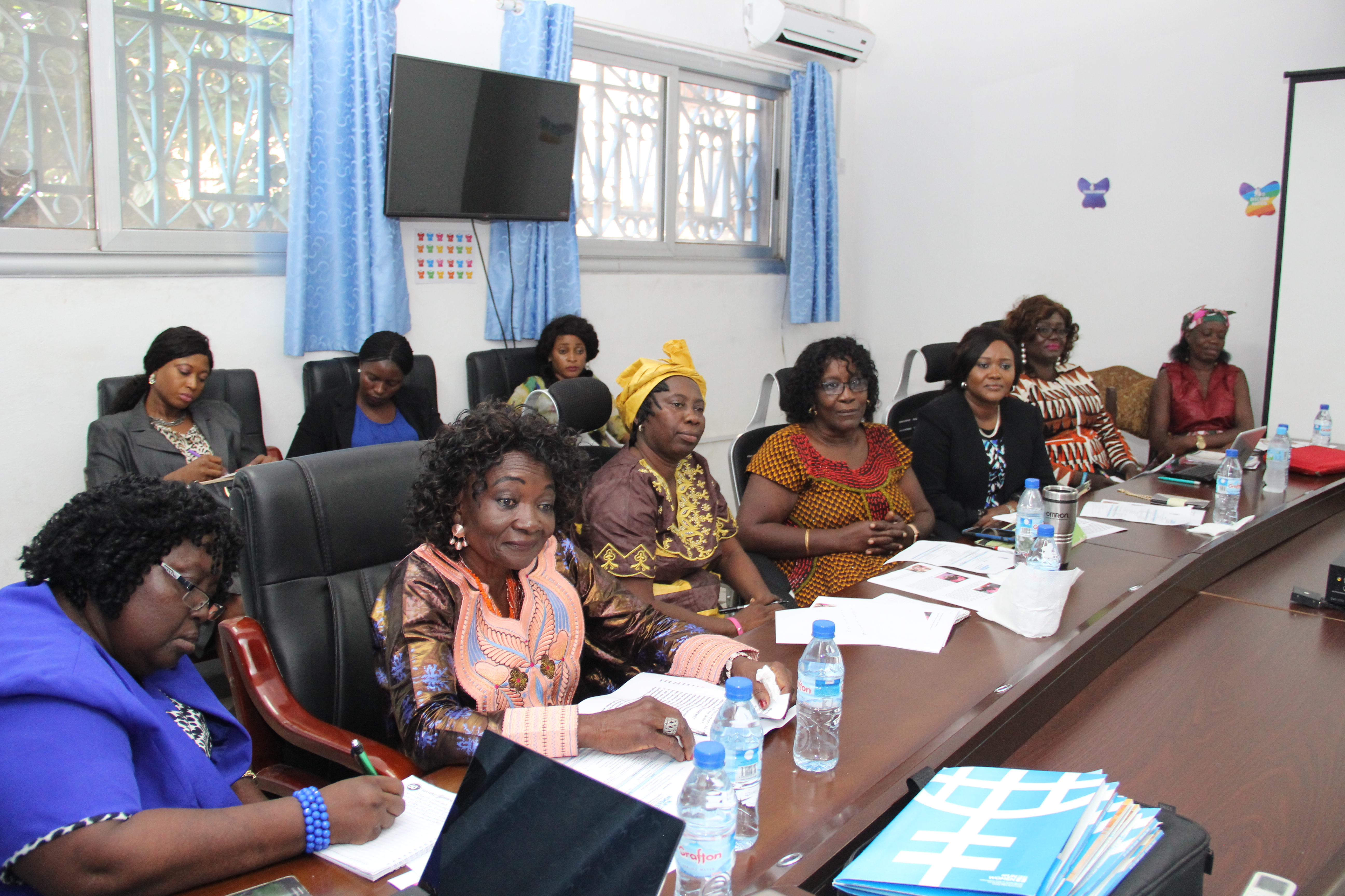 Meeting with the Women's Shadow Parliament Sierra Leone at UN Women