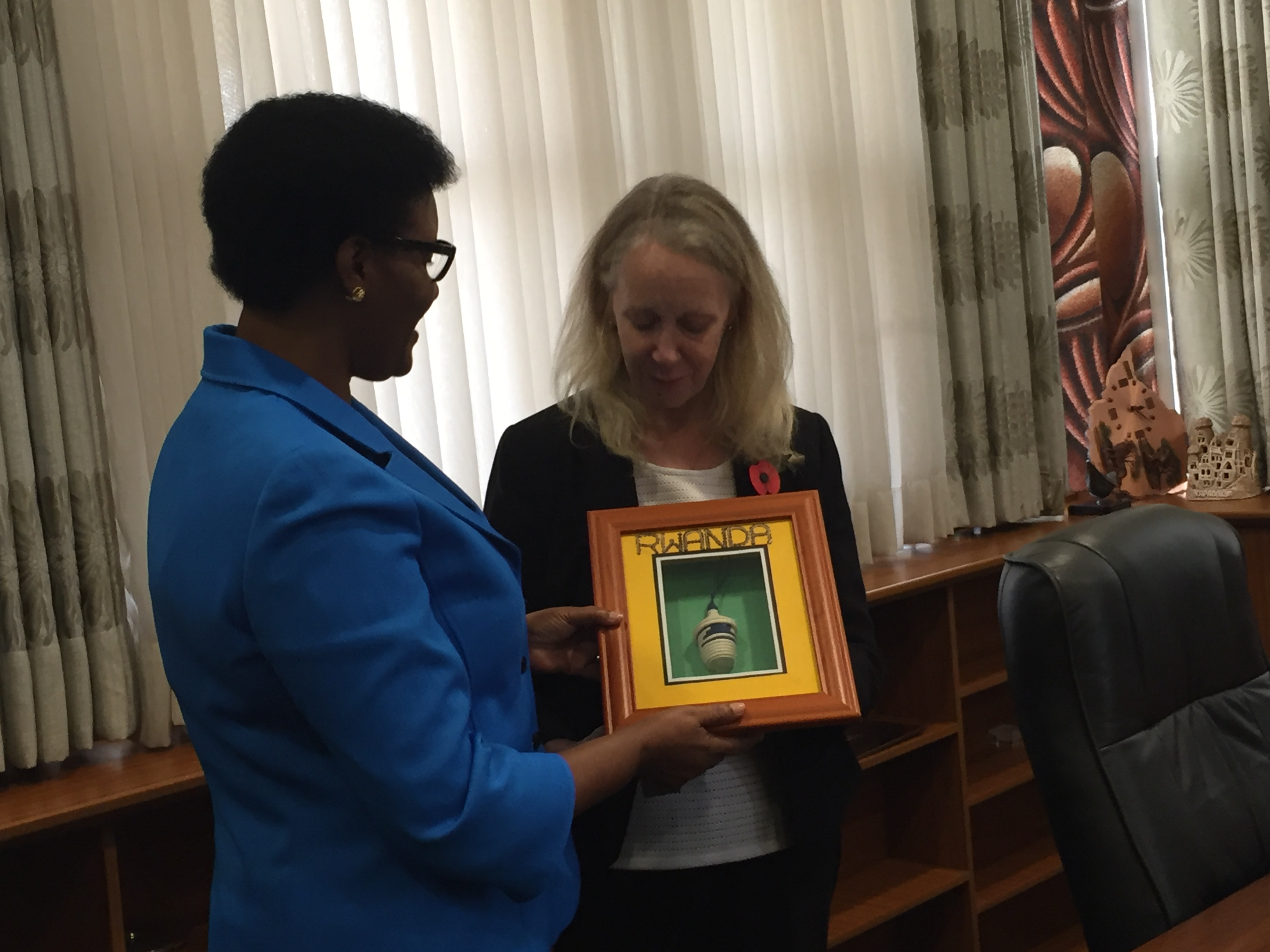 We were welcomed to the Parliament of Rwanda by HE Donatille Mukabalisa, Speaker of the Chamber of Deputies