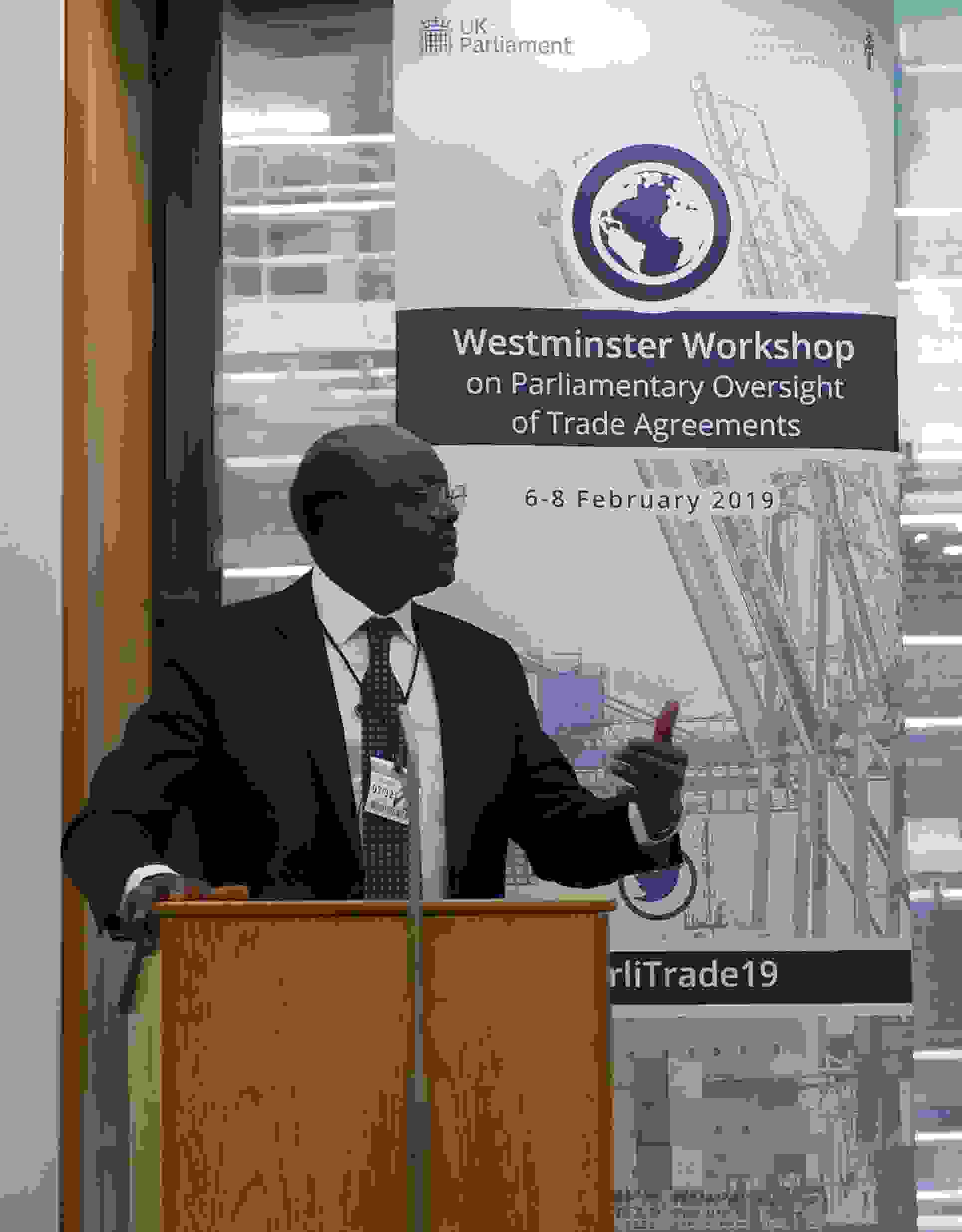 Westminster Workshop on Parliamentary Oversight of Trade Agreements listing image