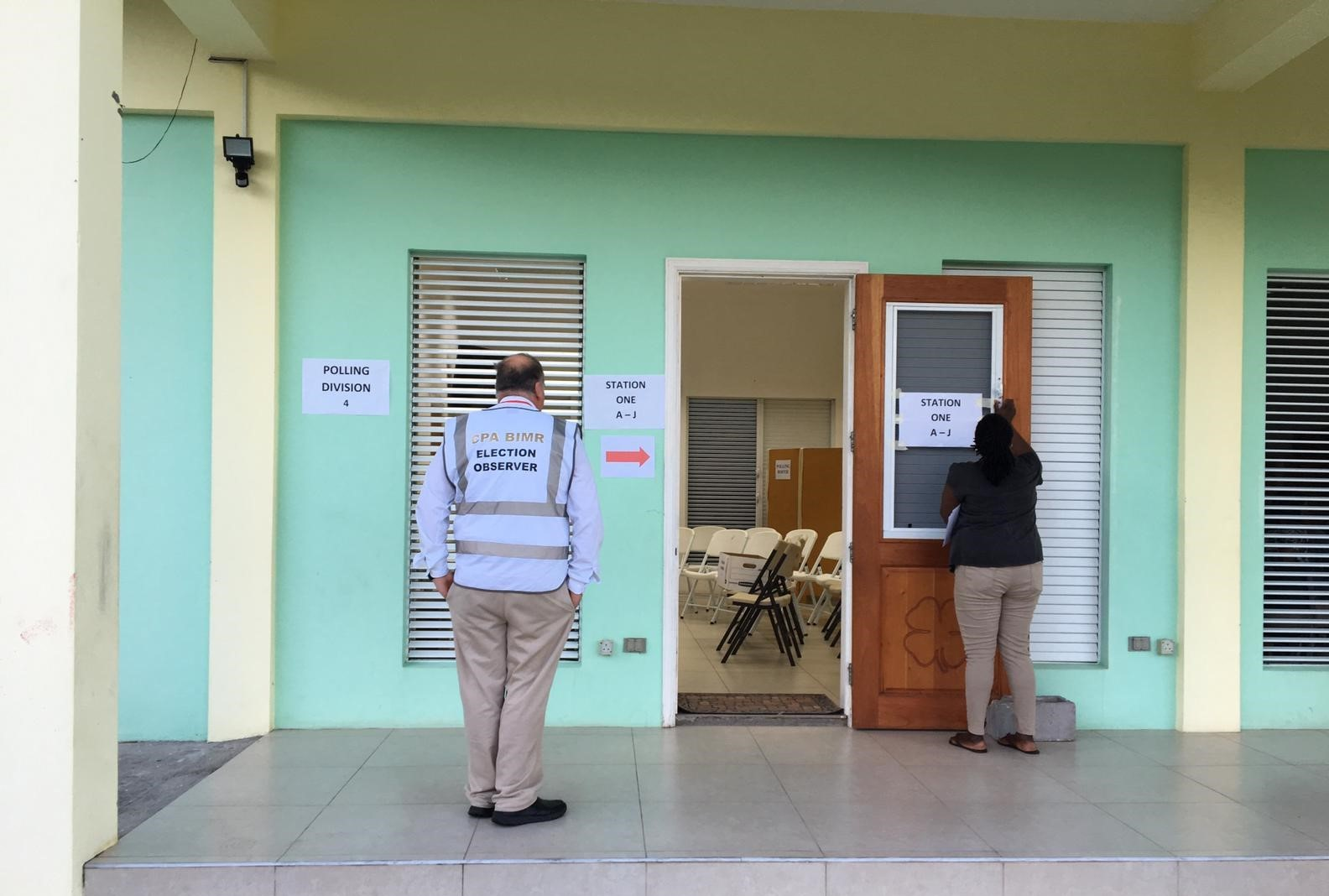 Opening of a polling station on election day