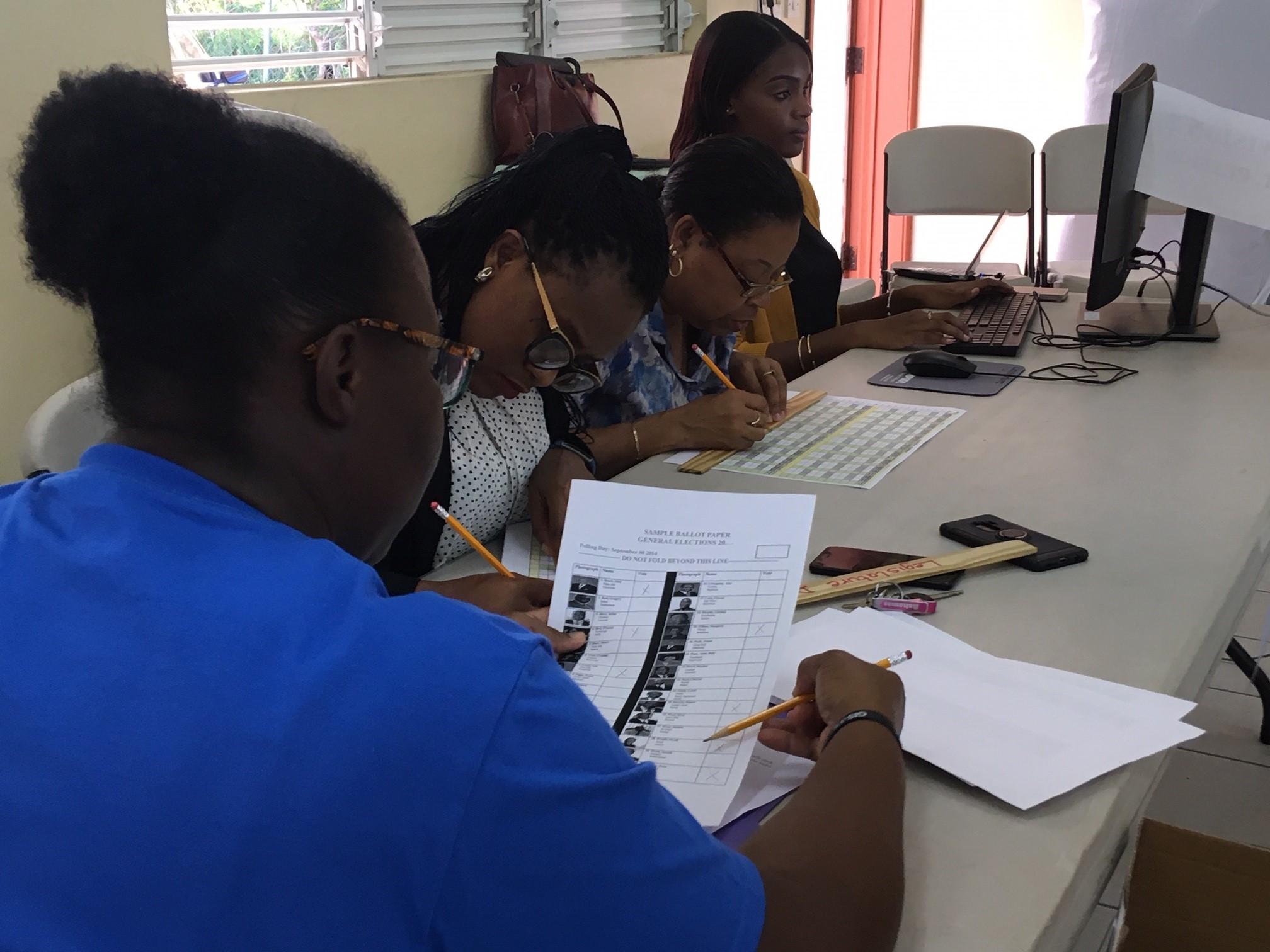 A training session for Tally Clerks