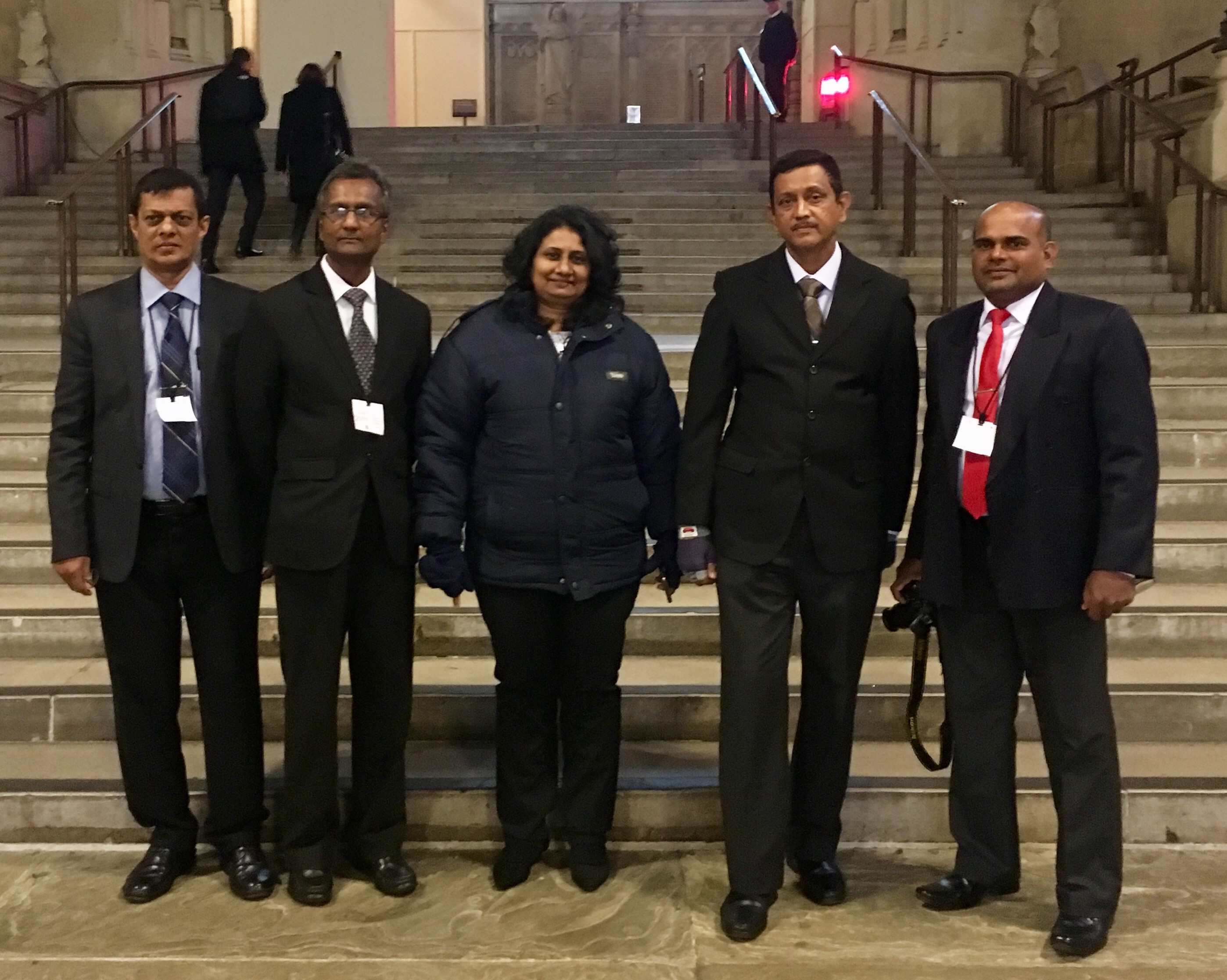 The delegation visits the Palace of Westminster