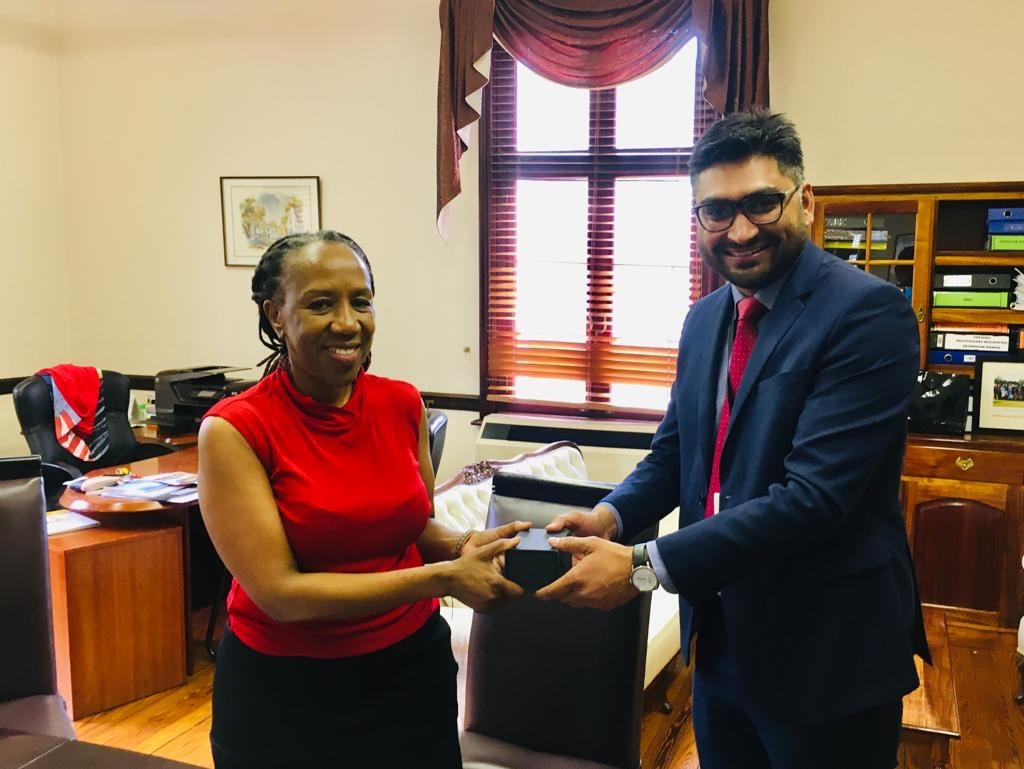 Yash Chandra from CPA UK meeting the Secretary of the South African Parliament, Ms P N Tyawa