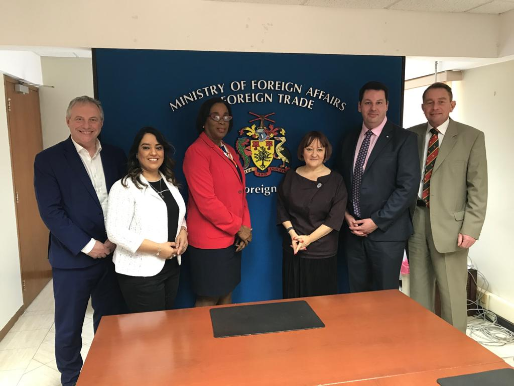 Delegates met with the Minister for International Trade, Hon. Sandra Husbands MP, to discuss UK-Barbados trade links and opportunities