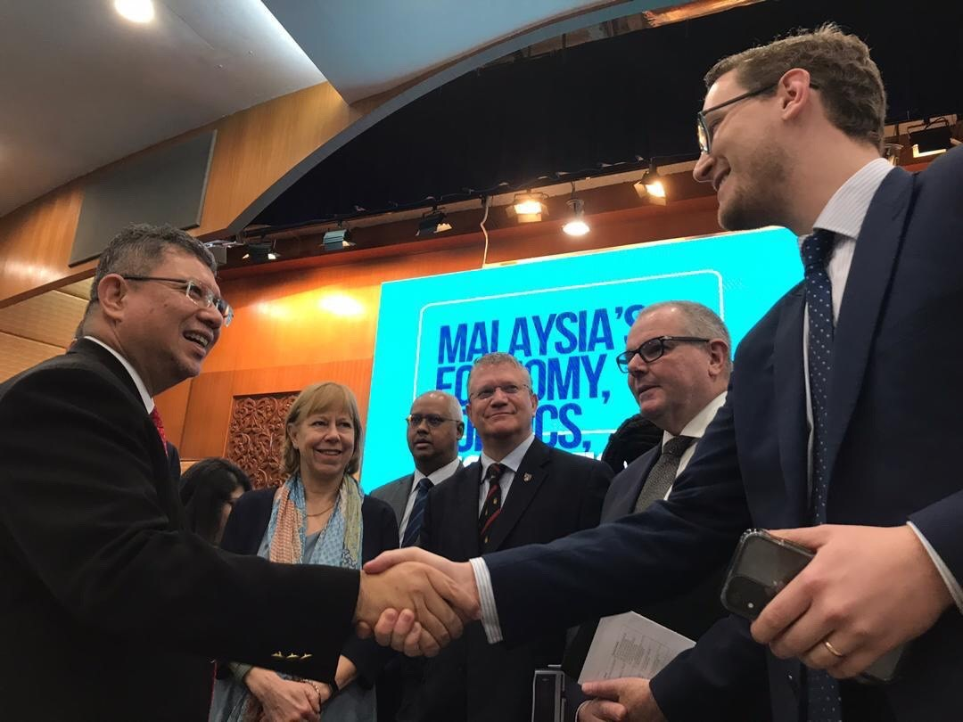 The CPA UK delegation were able to meet with the Malaysian Foreign Minister, Saifuddin Abdullah.