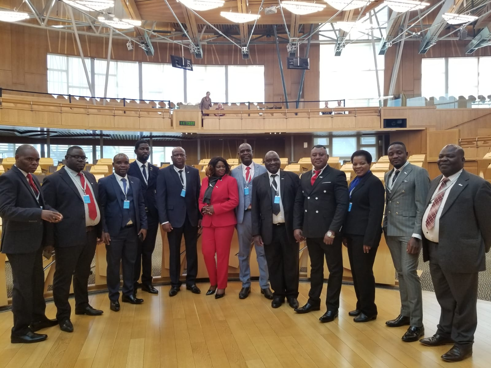 CP4D Malawi Delegates in Scottish Parliament Chamber