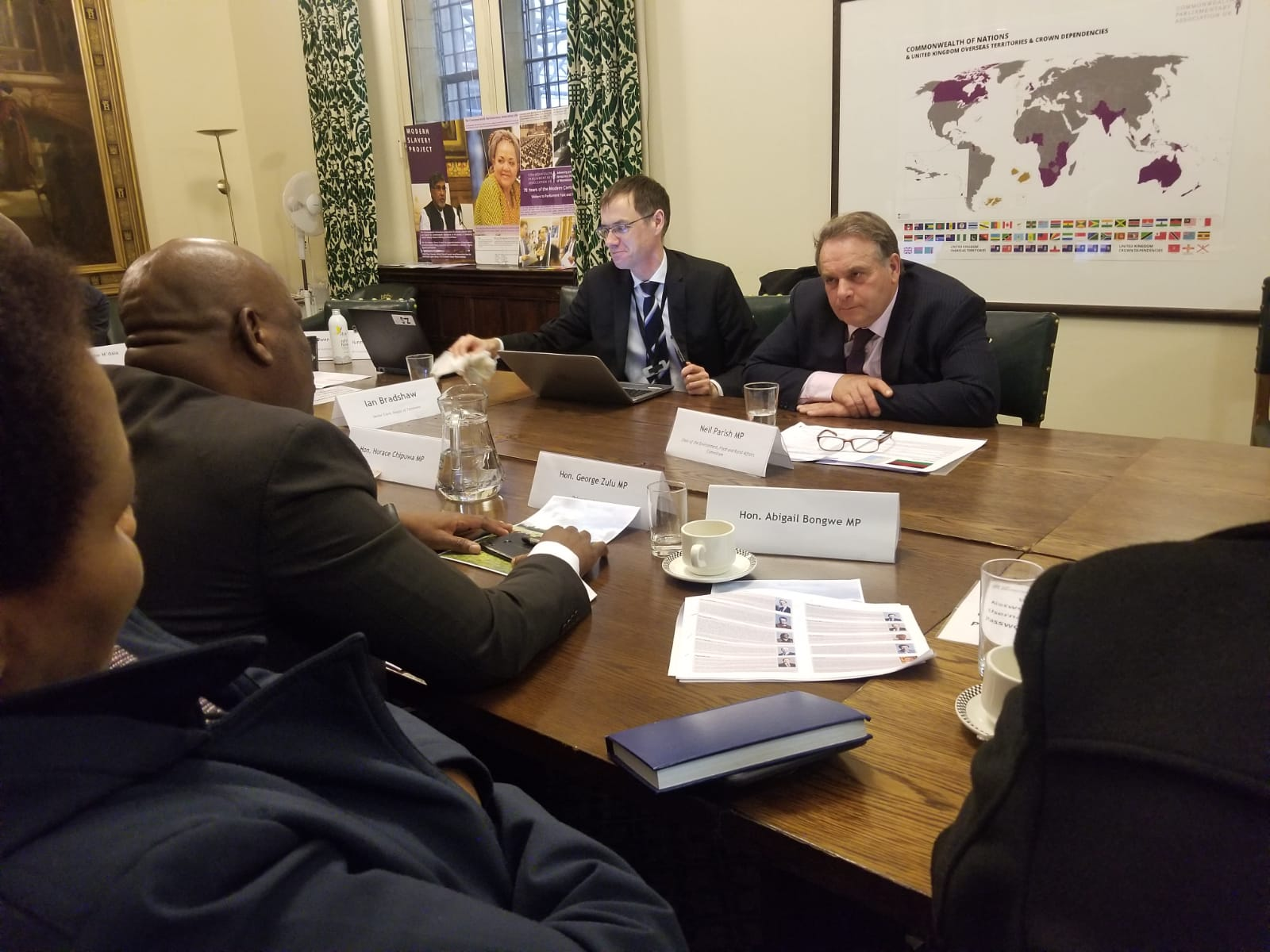 Neil Parish MP, Chair of the Environment, Food and Rural Affairs Committee meeting delegates.
