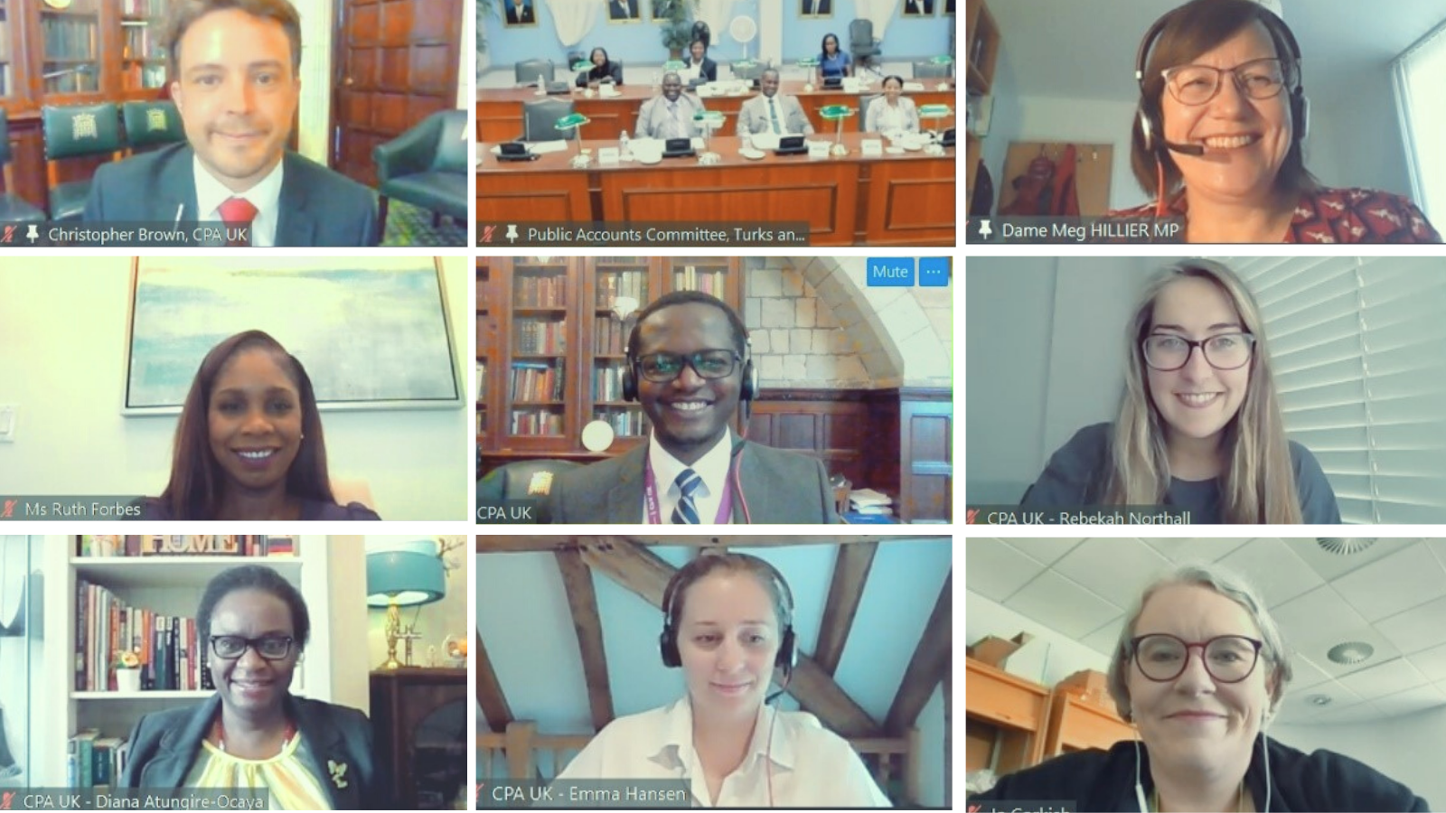 Participants and speakers at the Turks and Caicos Islands Public Accounts Committee Training, July 2021.