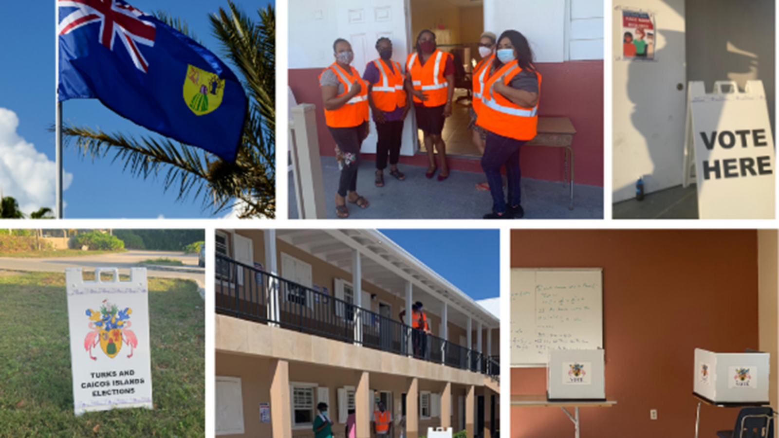 Images from the Turks and Caicos Islands General Election, February 2021