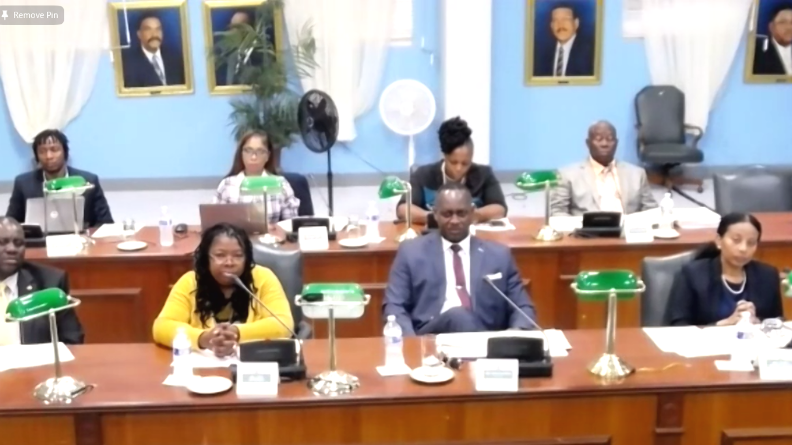 Members of the Turks and Caicos Islands Public Accounts Committee attend training, July 2021.